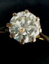 Stunning Diamond Solitaire Ring, .85ct SI2 H, 18ct Gold, Size M, UK Hallmark.