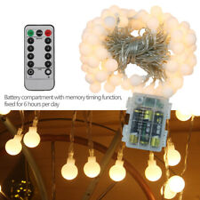10M 100 LED Warm White Battery String Fairy Lights Wedding Bedroom Xmas Decor