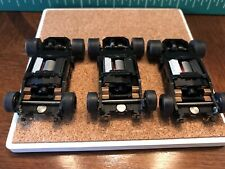 (3) AFX Tomy Super G-Plus HO Slot Car FAST Rolling Chassis W/ BSRT Performance