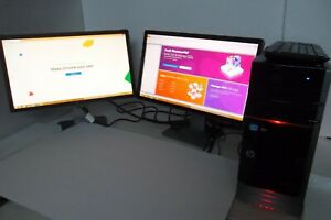 "HP Envy Phoenix h9-1350 Intel Core i7 3.4GHz 16GB 1TB BT Wi-Fi w/22"" LCD Monitor"
