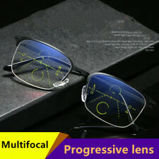 Anti-fatigue anti-blue light reading glasses smart zoom progressive multi-focus
