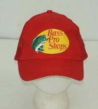 Bass Pro Shops trucker hat snapback mesh adjustable patch Red Fishing