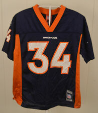 Reebok Denver Broncos Jersey #34 Reuben Droughns NFL Youth Medium (10-12)