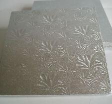 "10 Square 14"" Cake Drums, Silver Cake Boards, Cake Decorating, Sugarcraft Baking"