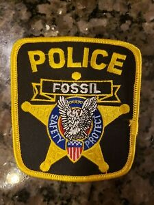 Police Patch Fossil Oregon- unique