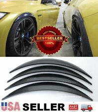 """2 Pairs  ABS Black 1"""" Arch Extension Diffuser Wide Body Fender Flares For Mini"""