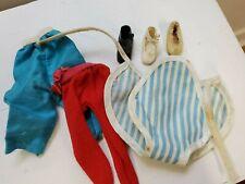 "Vintage '50 Betsy McCall 8"" Doll Blue/White Stripe Sunsuit odd shoes pants lot"