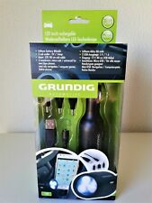 Grundig Automotive Car LED Light Torch Rechargable Micro/Mini USB New Sealed