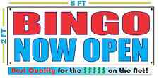 Bingo Now Open Banner Sign New Larger Size Best Quality for the $