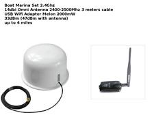 2.4Ghz Antena Omnidireccional Wifi de exteriores de señal Booster USB Barco Caravana Marina 3 M Melón