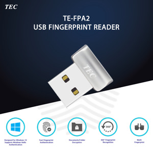 Security Mini USB Fingerprint Reader for Windows 10 Hello 360° Touch TE-FPA2