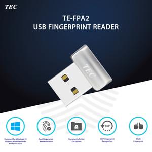 Security Mini USB Fingerprint Reader for Windows 10 Hello 360° Touch TE-FPA2