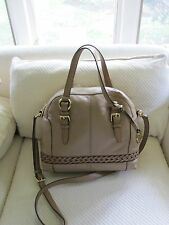 NWT Authentic Michael Kors Large Gladstone Leather Satchel-Dark Khaki- $448