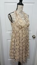 Womens H&M Snake Print Dress Size 4 ($35) Value