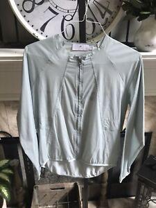 STELLA MCCARTNEY x ADIDAS women's lightweight zip front jacket top sz S small