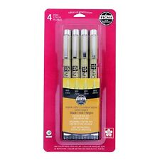 Sakura 50047 Pigma Micron Ink 4 Piece Pen Set Black Sepia Fine 003/005 Draw Art