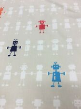 Harlequin Fabric 'Reggie Robot' By metre In The Neutral Fabrics 100% Cotton