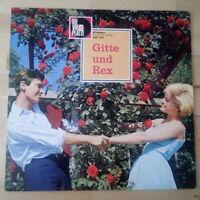 Gitte und Rex LP Vinyl Schallplatte Die Volksplatte 1960er Jahre