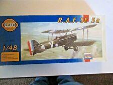 R.A.F. SE 5a 1;48 Scale Model kit