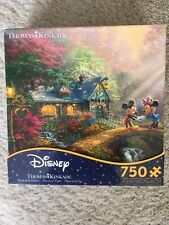 DISNEY THOMAS KINKADE MICKEY & MINNIE SWEETHEART BRIDGE 750 PIECE PUZZLE SEALED