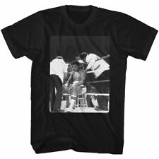 Muhammad Ali Time Out Black Adult T-Shirt
