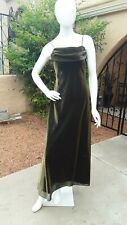 Betsy & Adam by Jaslene Gold Formal Spaghetti Strap Evening Gown Women's Size 6