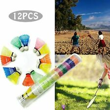 12x Colorful Speed Training Sport Shuttlecock Badminton Ball Indoor Outdoor Game