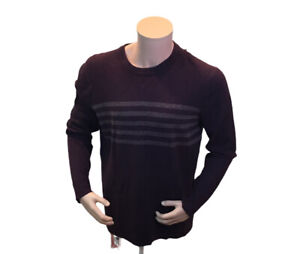 New Mens Smartwool Sparwood Pattern Crew Neck Sweater XL Maroon