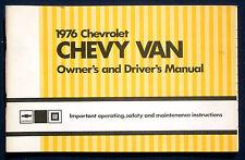 Owner's Manual * Betriebsanleitung 1976 Chevrolet Chevy Van (USA)