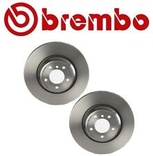 Pair Set of 2 Front Coated Vented 348mm Disc Brake Rotors Brembo For BMW E90 E93
