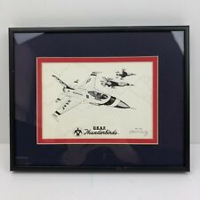 Robert L Conely USAF Thunderbirds Pencil Drawing - SIGNED