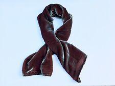 "Silk Velvet Scarf in IRIDESCENT AMETHYST PURPLE Handmade 12x42"""