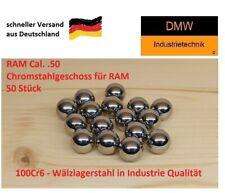 50 St Cal .50 Chromstahlkugeln in G28 Industrie Qualität Passgenau für HDR HDP