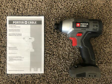 """NEW! Porter Cable 18V 18 Volt 1/4"""" Hex Impact Driver PC1801ID - Bare Tool Only"""