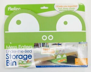 P'kolino Mess Eaters Under The Bed Storage Bin, Green, 17x13x4.8 Inches NWT