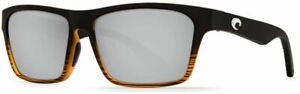 Costa Del Mar mens Hinano Rectangular Sunglasses Matte Coconut Fade/Silver Mirro