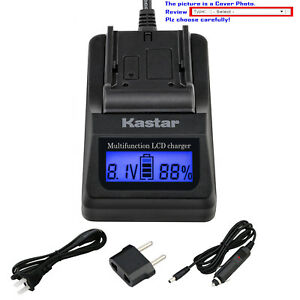 Kastar Battery LCD Fast Charger for BP-911 BP-915 & Canon EOS C100 C100 Mark II