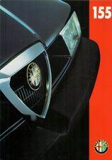 Alfa Romeo 155 Wide Body 1995-96 UK Market Foldout Brochure 2.5 V6 2.0 1.8 TS