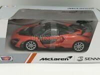 Motormax 1/24 Scale McLaren Senna Orange die-cast  Car Model 79355
