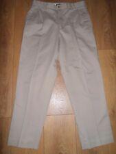 """Lands End Stone Coton Pantalon Chino Taille W32 L29"""""""
