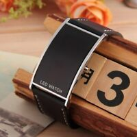 Led Herren Damen Digital Uhr Armbanduhr in Schwarz Edle Armband Trend