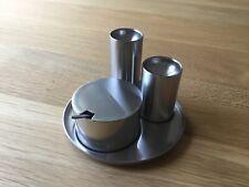 More details for stelton  cylinda line arne jacobsen salt & pepper set really rare