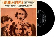 "THE MAMAS & THE PAPAS - MONDAY MONDAY/CALIFORNIA DREAMIN' EP 7""45 RECORD PIC SLV"