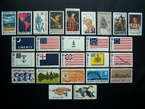 US STAMPS 1968 YEAR COMPLETE SET, SCOTT # 1339-1363. OG, MNH