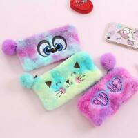 Plush Clutch Bag Women Cosmetic Bag Zipper Purse Student Pencil Case Wallet Bags