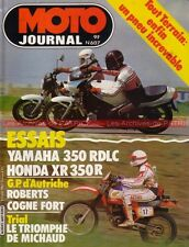 MOTO JOURNAL  607 YAMAHA RD 350 LC RDLC HONDA XR 350 R Grand Prix Autriche 1983