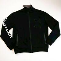 Hudson Outerwear mens 100% AUTHENTIC L/S zip up track jacket black size large