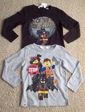 NWT Toddler Boy H&M 98/104 2-4 Yrs Set of 2 Shirts Tops LEGO BATMAN NEW