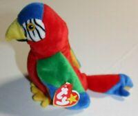 Ty Beanie Babies JABBER Parrot Plush Stuffed Animal 1997 Retired