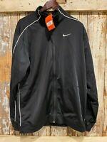 NWT Nike Men's Dry Full Zip Basketball Warm up Jacket Size L, 3XL Black & white